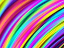 Heldere gebogen kleuren stock illustratie