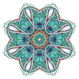 Heldere gekleurde bloemenmandala Vector Illustratie