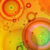 Heldere gekleurde cirkelsachtergrond Stock Fotografie