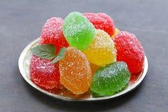 Heldere gekleurde eigengemaakte fruitjujube Royalty-vrije Stock Foto's