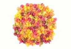 Heldere gekleurde macaroni Stock Afbeelding