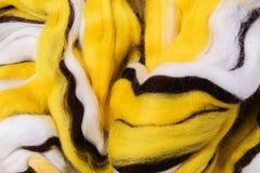 Heldere gekleurde merinoswol voor viltbekleding en handwerk, hobby Royalty-vrije Stock Fotografie