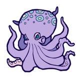 Heldere gekleurde octopus Royalty-vrije Stock Foto's