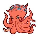 Heldere gekleurde octopus Royalty-vrije Stock Afbeelding