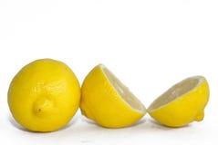 Heldere gele citroenen Royalty-vrije Stock Foto's