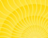 Heldere gele golvende lichte de uitbarstingsvector van de zonstraal Stock Afbeeldingen