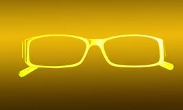 Heldere, gele silhouetglazen Stock Fotografie