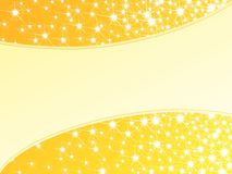 Heldere gele sparkly horizontale achtergrond, Royalty-vrije Stock Foto's