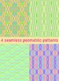 4 heldere geometrische patronen Royalty-vrije Stock Foto