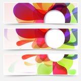 Heldere geplaatste Webkopballen - abstracte vloeistof vector illustratie