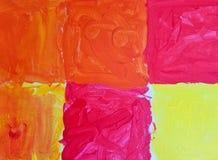 Heldere geweven abstracte verftegel Royalty-vrije Stock Foto