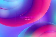 Heldere Golfaffiche met Vloeibare Vloeistof Abstracte 3d achtergrond Moderne Kleurrijke Vloeistof Ontwerp voor Muziekaffiche, Bro vector illustratie