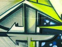 Heldere graffiti die op bakstenen muur wordt geschilderd vector illustratie