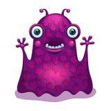 Heldere grappige monstervreemdeling Grafisch karakter Stock Afbeelding