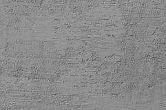 Heldere Grey Grunge Plastered Wall Stucco-Textuur, Horizontale Gedetailleerde Natuurlijke Kras Grungy Gray Coarse Rustic Textured stock afbeelding