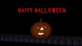 Heldere Halloween-pompoen Stock Foto
