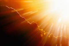 Heldere hete zon Stock Afbeeldingen