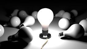 Heldere Ideelamp Royalty-vrije Stock Foto's