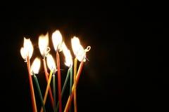 Heldere kaarsen royalty-vrije stock foto