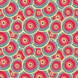 Heldere karmozijnrode cirkels die op elkaar in lagen aanbrengen vector illustratie