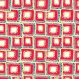 Heldere karmozijnrode rechthoeken die op elkaar in lagen aanbrengen stock illustratie