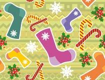 Heldere Kerstmis naadloze textuur. Stock Afbeelding