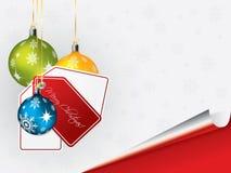 Heldere Kerstmisachtergrond met decoratie en l Royalty-vrije Stock Afbeelding