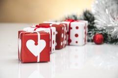 Heldere Kerstmissamenstelling Royalty-vrije Stock Afbeelding