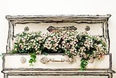Heldere kleuren kunstbloemen Stock Fotografie