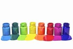 Heldere kleuren op witte achtergrond Stock Foto's