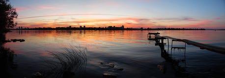 Heldere kleuren van zonsondergang Royalty-vrije Stock Foto