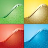 Heldere kleurenachtergronden met bloementextuur - reeks vector illustratie