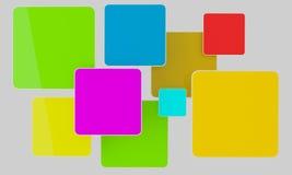 Heldere kleurenrechthoeken stock illustratie