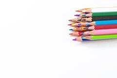 Heldere kleurpotloden Stock Foto