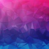 Heldere kleurrijke abstracte achtergrond van geometrische vormen Stock Afbeelding
