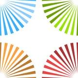 Heldere kleurrijke achtergrond met starburst bij hoeken royalty-vrije illustratie