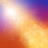 Heldere kleurrijke achtergrond met vage bokeh lichten en gouden strook royalty-vrije illustratie