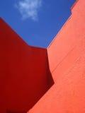 Heldere kleurrijke muren in Willemstad, Curacao royalty-vrije stock foto