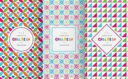 Heldere kleurrijke naadloze patronen voor babystijl Royalty-vrije Stock Afbeelding