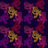 Heldere kleurrijke octopussen Stock Afbeelding
