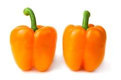 Heldere kleurrijke paprika's die op wit worden geïsoleerdb Royalty-vrije Stock Afbeelding