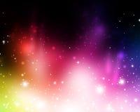 Heldere kleurrijke samenvatting in levendige mooie lichten Royalty-vrije Stock Foto's