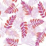 Heldere kleurrijke vector naadloze patroon mooie artistieke silho Stock Afbeeldingen
