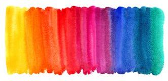 Heldere kleurrijke waterverfborstel getrokken achtergrond royalty-vrije illustratie
