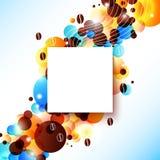 Heldere koffieachtergrond met gloedeffect. Royalty-vrije Stock Afbeeldingen