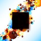 Heldere koffieachtergrond met gloedeffect. Royalty-vrije Stock Afbeelding