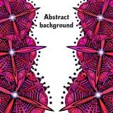 Heldere krabbel abstracte vectorachtergrond Decoratieve futuristische aard Het ontwerp van het malplaatjekader voor kaart en ande Royalty-vrije Stock Afbeeldingen