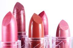 Heldere lippenstift op een witte achtergrond Stock Afbeelding