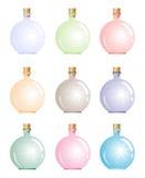 Heldere magische fles Stock Fotografie