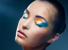 Heldere make-up Royalty-vrije Stock Foto
